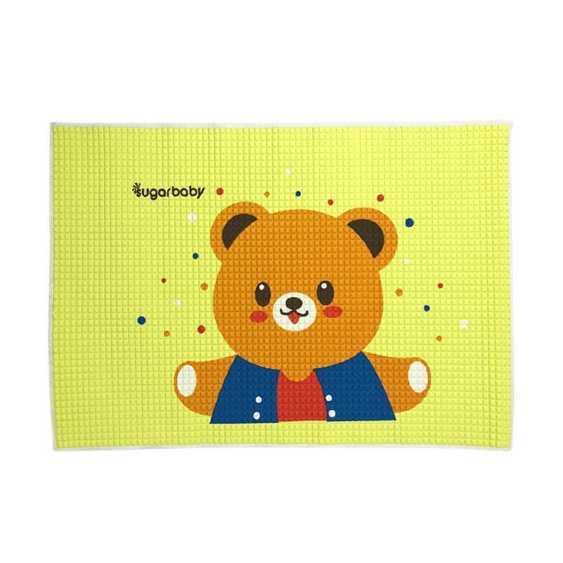 Sugar Baby Yellow Bear Organic Healthy Cot Sheet Perlak Bayi - Yellow [90 x 60 cm]