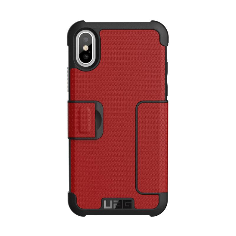 UAG Metropolis Magma Casing for iPhone X - Silver Red