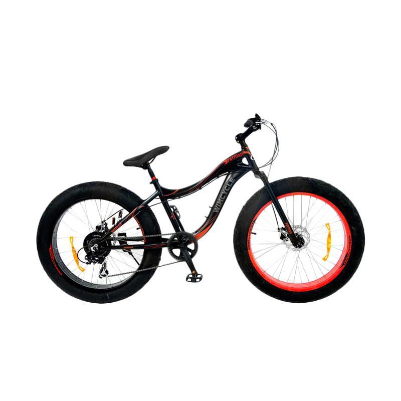 harga WIMCYCLE MTB Fatman Alloy Sepeda Gunung - Hitam [7SPD/ 26 Inch] Blibli.com