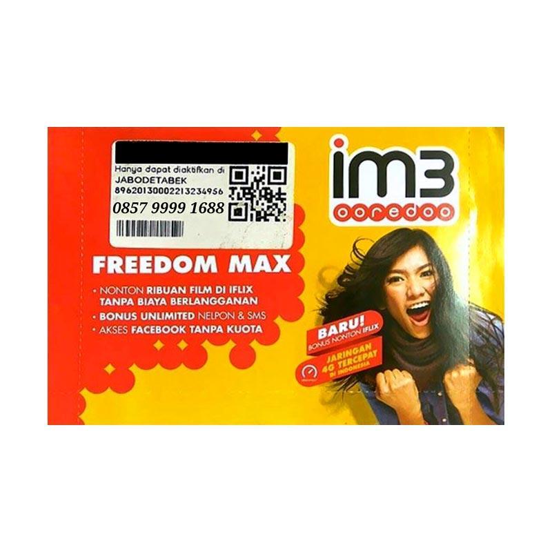 Indosat IM3 Nomor Cantik Hoki 0857 9999 1688 Kartu Perdana