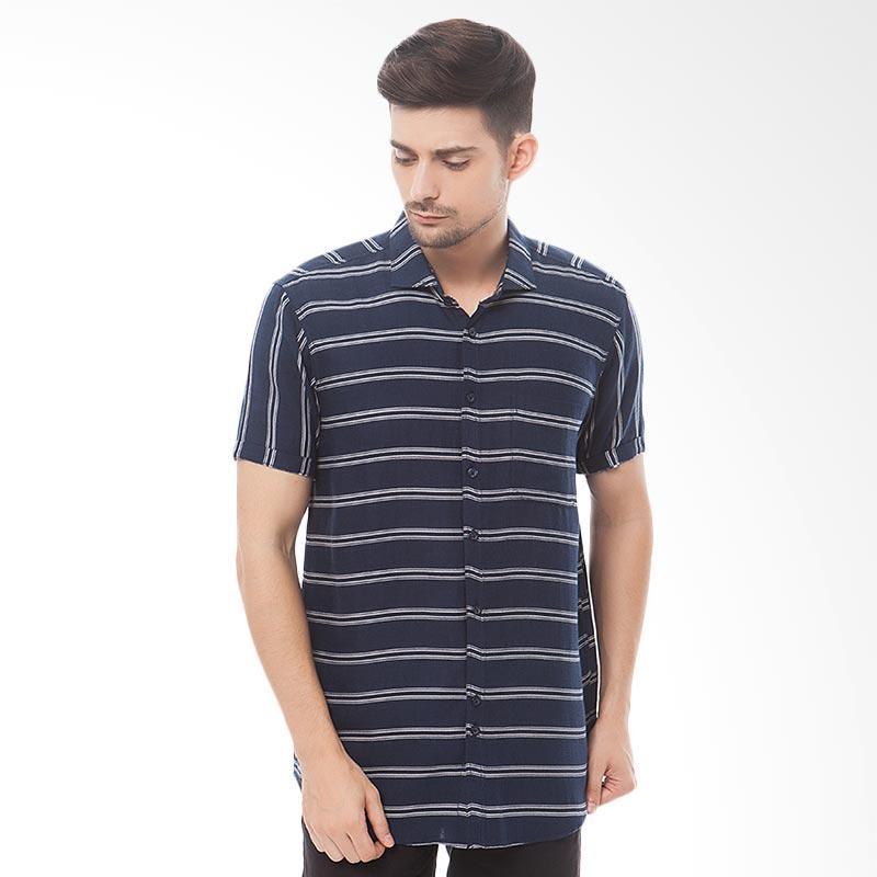 Tendencies Linen Striped 1 Shirt Kemeja Pria