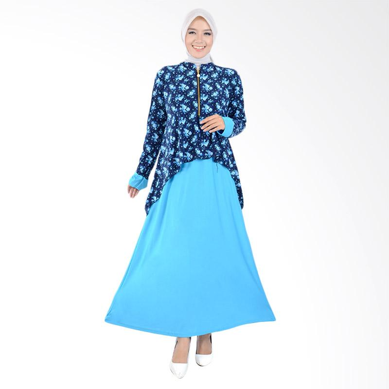 harga Jfashion Maxi Krah Shanghai Variasi Seleting Gamis Long Dress - Zaskia Biru Blibli.com