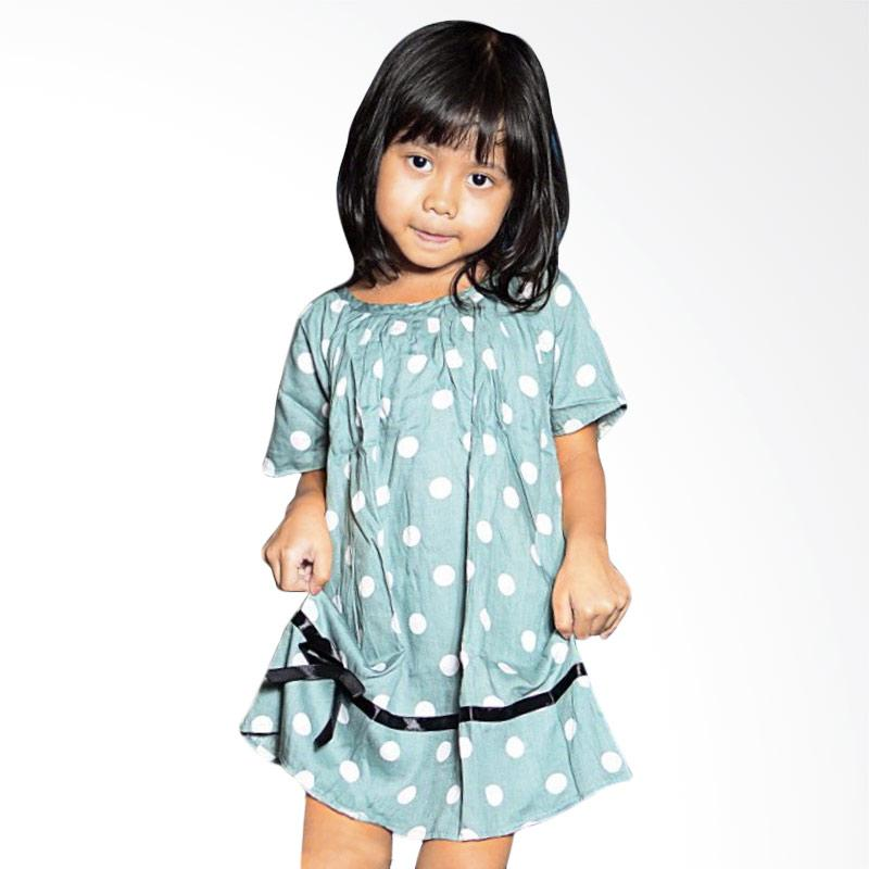 Kirana Kids Wear Lula Dress Anak - Grey Polka