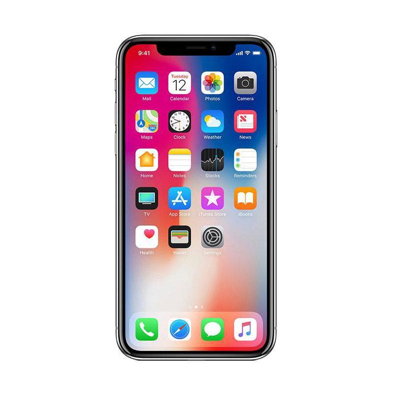 Apple iPhone X 64 GB Smartphone - Silver [Garansi Resmi TAM]