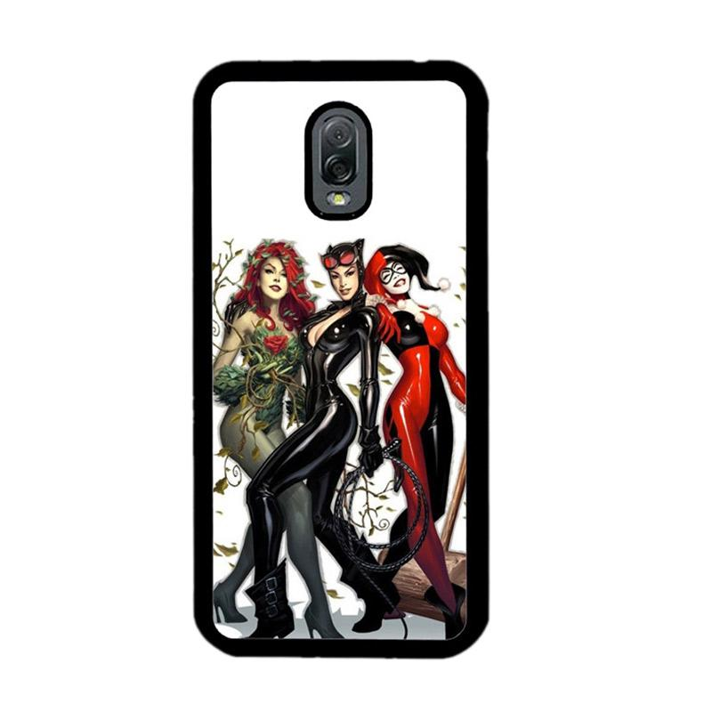 Flazzstore Poison Ivy Harley Quinn,Batgirl And Catwoman Z0225 Custom Casing for Samsung Galaxy J7 Plus