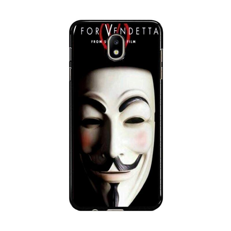 Flazzstore Guy Fawkes Mask V For Vendetta Z0192 Custom Casing for Samsung Galaxy J7 Pro 2017