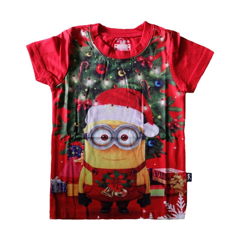 harga J2 Christmas Minion Kaos Anak - Merah Blibli.com