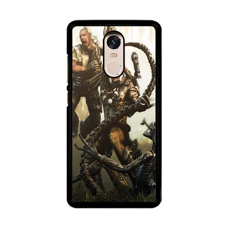 Flazzstore Alien Vs Predator Z0997 Custom Casing for Xiaomi Redmi Note 4 or Note 4X Snapdragon Mediatek
