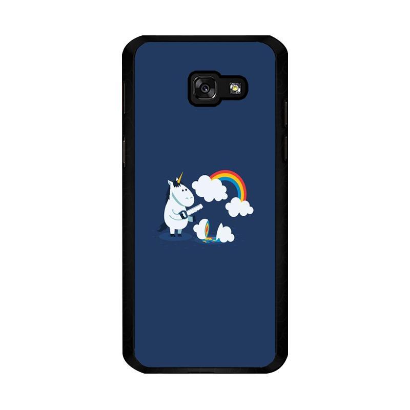 Flazzstore Unicorn Rainbow O0009 Custom Casing for Samsung Galaxy A5 2017