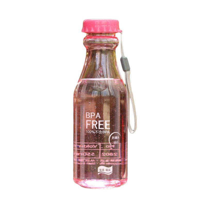 Hariku BPA Free Botol Minum Unik - Pink [550 mL]