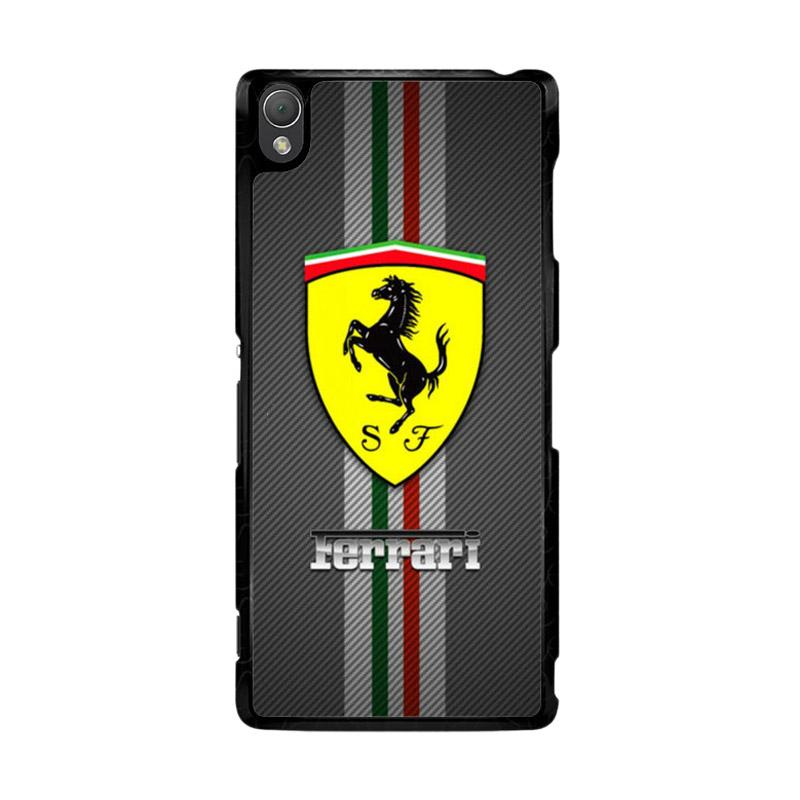Flazzstore Texture Ferrari Black O0625 Custom Casing for Sony Xperia Z3