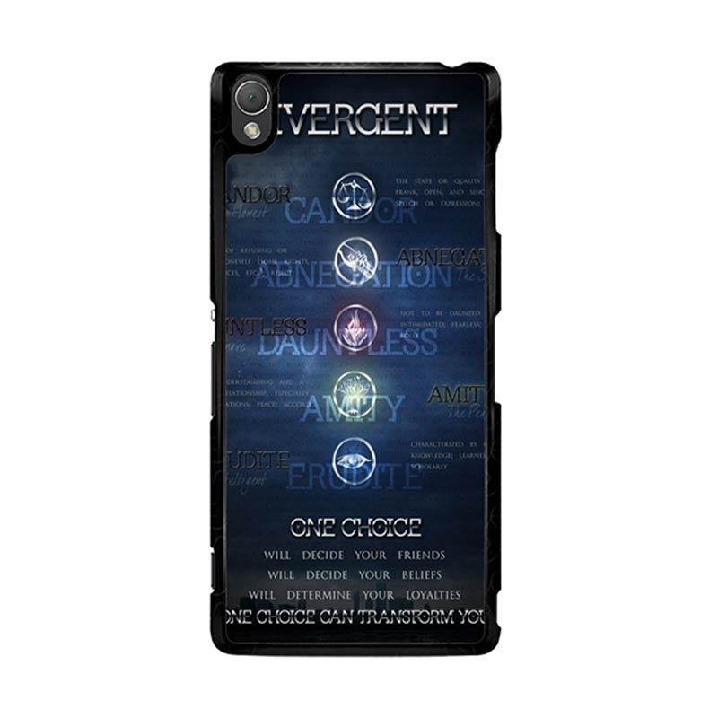 Flazzstore Divergent Faction Symbols Z0694 Custom Casing for Sony Xperia Z3