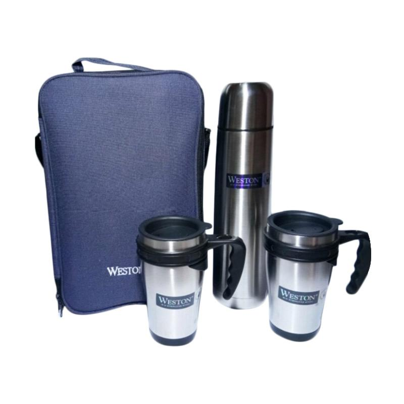Weston Premium Grand Set Termos dan Mug [Termos 1000 mL x 1 pcs/ Mug 420 mL x 2 pcs]