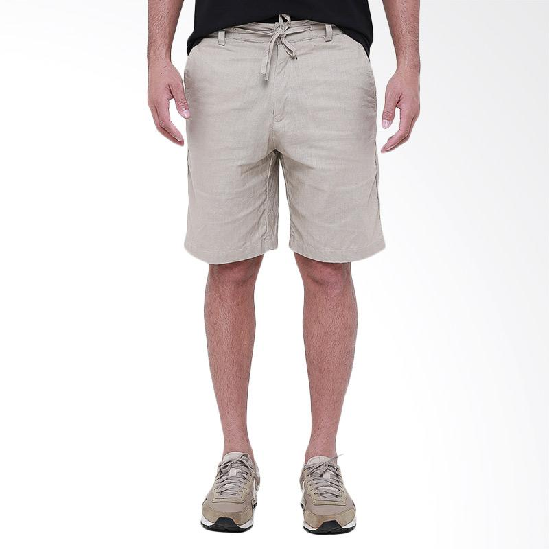 Tendencies Linen Short Celana Pria - Sand Cream