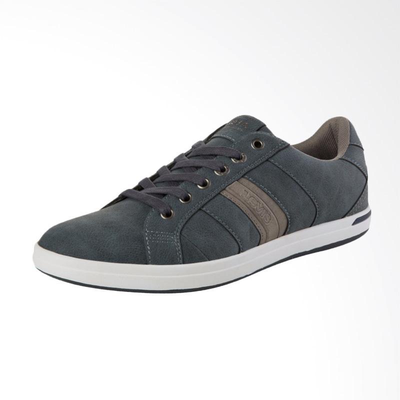 harga Levi's Thomas Derby Sneaker Sepatu Pria - Grey [38110-001] Blibli.com