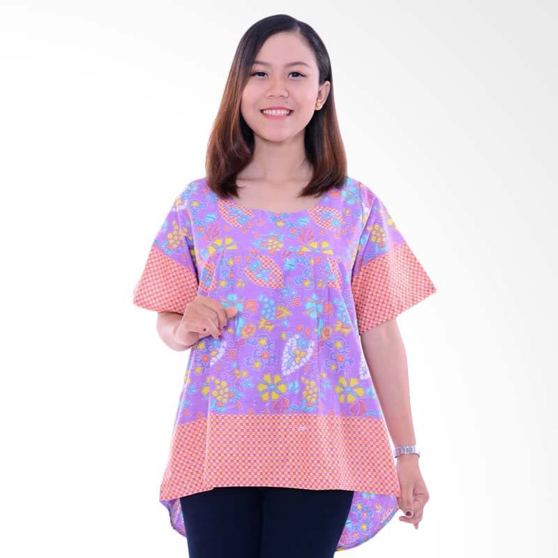 Winggo Etniq Mullet Blouse in Pastel Batik Wanita - Purple