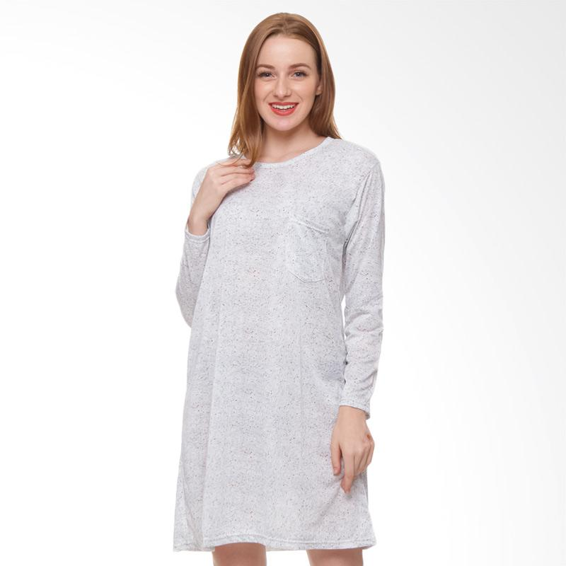 harga Edberth Larina GM 02 Mini Dress Wanita - Grey Blibli.com