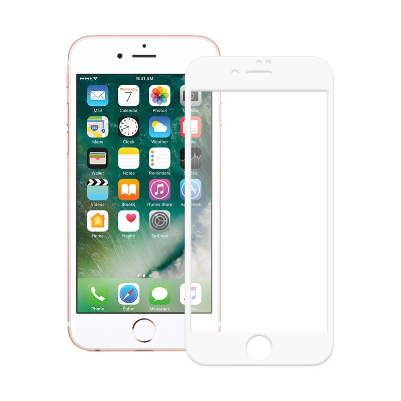 3T Tempered Glass iPhone 8  Plus Full Cover Screen Protector White