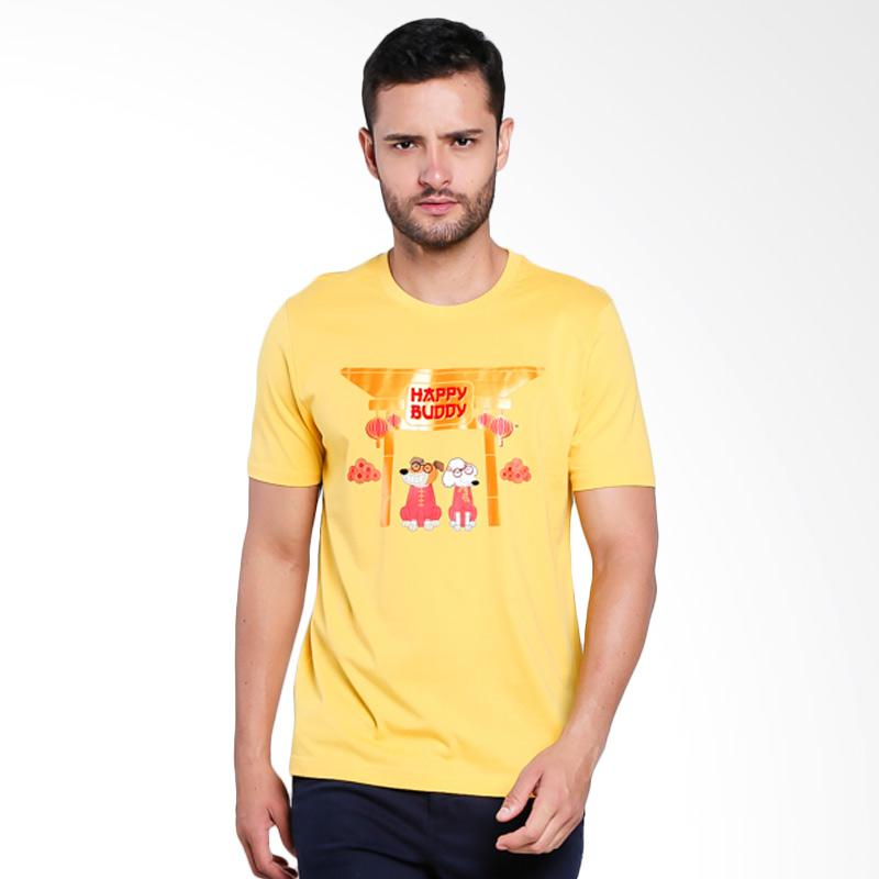 Giordano 2018 Happy Buddy Tee for Men Kaos Pria