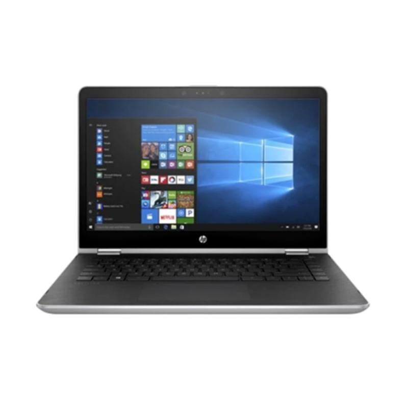 harga HP Pavilion X360 14-BA163TX Convert Notebook -  Silver [Intel Core i5-8250 / 8GB/ 1TB/  VGA/ Non DVD/ 14 Inch Touchscreen/ W10] Blibli.com