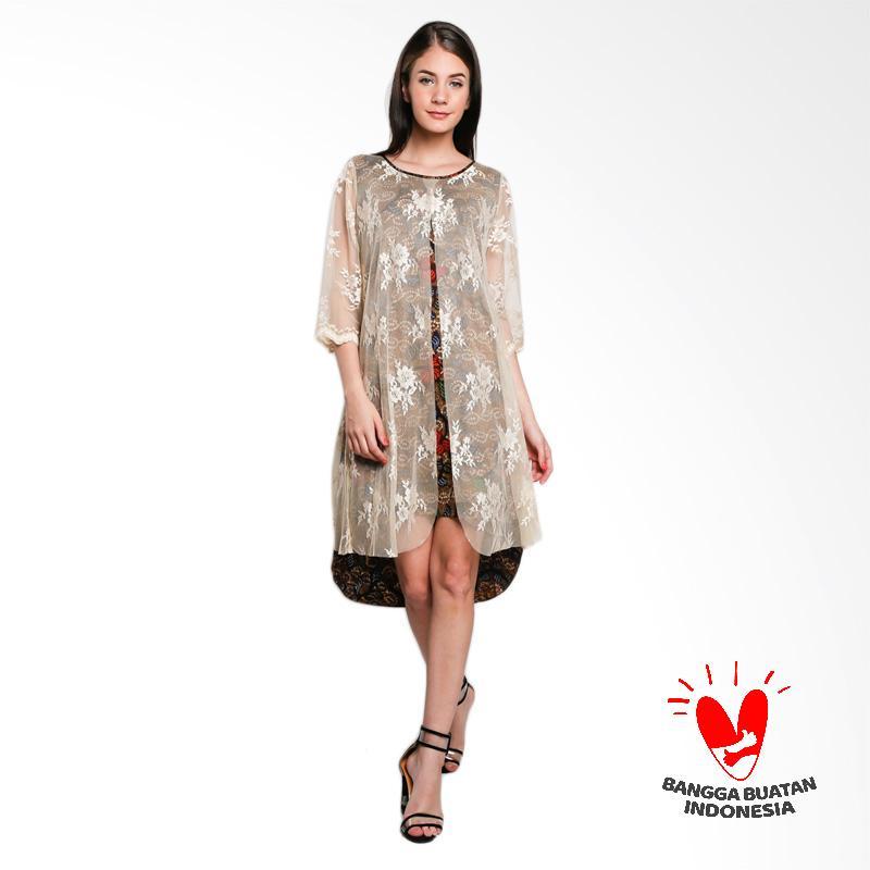 harga Lombang Batik by Yati Law Tangan 3/4 Brukat Dress Batik - Cream Blibli.com