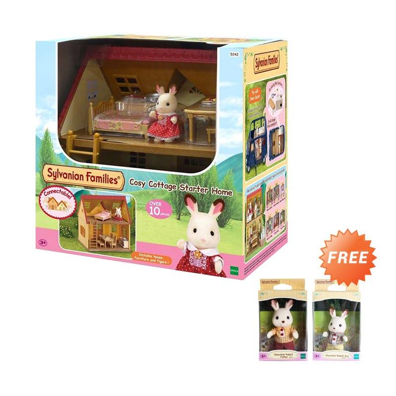 Sylvanian Families Cosy Cottage Mainan Anak Free 2 Figures Exclusive Package