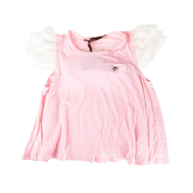 Cabriole 122 Adel & Audrey Top Dress Anak - Pink