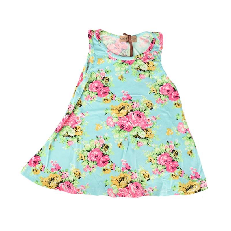 Cabriole 129 Adel & Audrey Flower Dress Anak - Green