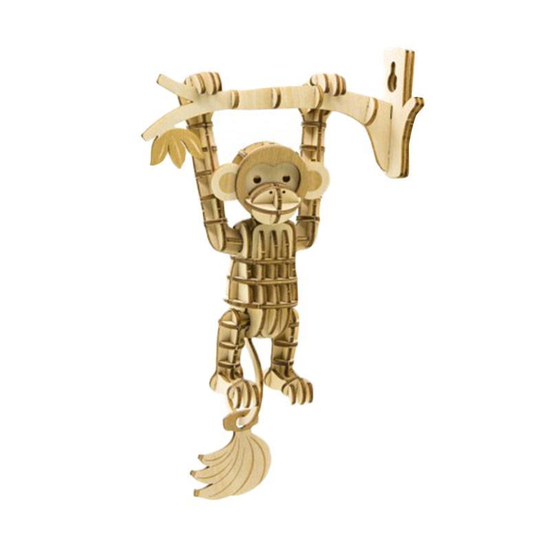 Kigumi Monkey Puzzle Kayu 3D