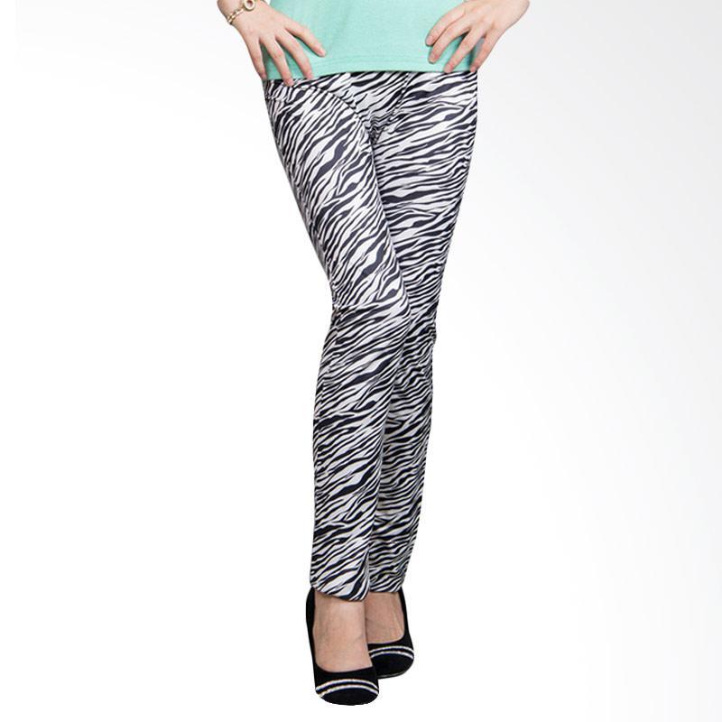 Pocabela Zebra Jegging - Black White