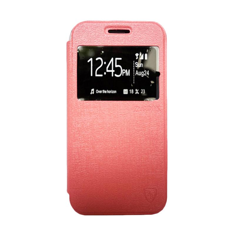 ZAGBOX Flip Cover Casing for Oppo R3 - Pink