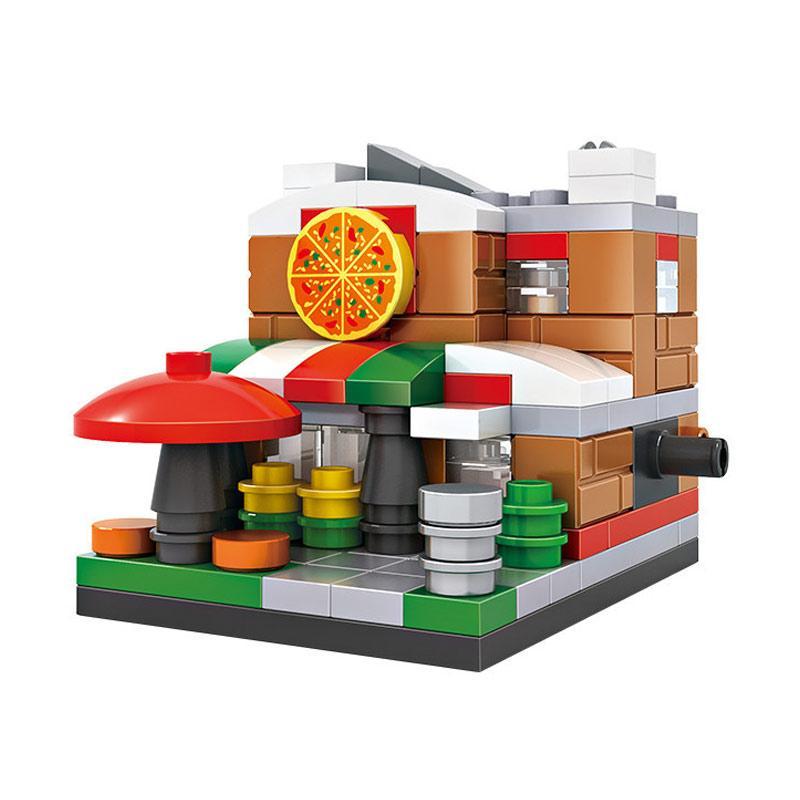 Loz 1409 Pizzeria Mainan Mini Blocks