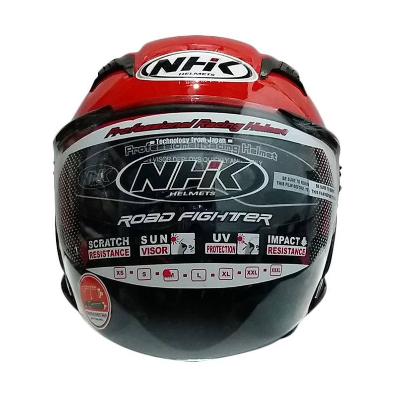 harga NHK Gladiator Half Face Helm Motor - Red Blibli.com