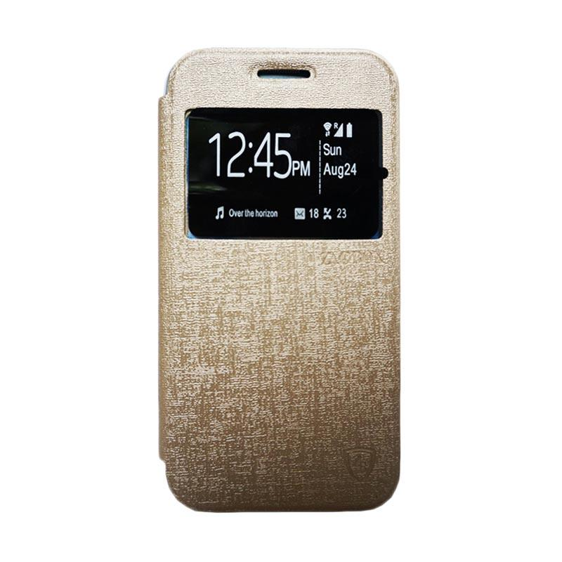 ZAGBOX Flip Cover Casing for Vivo Y21 - Gold