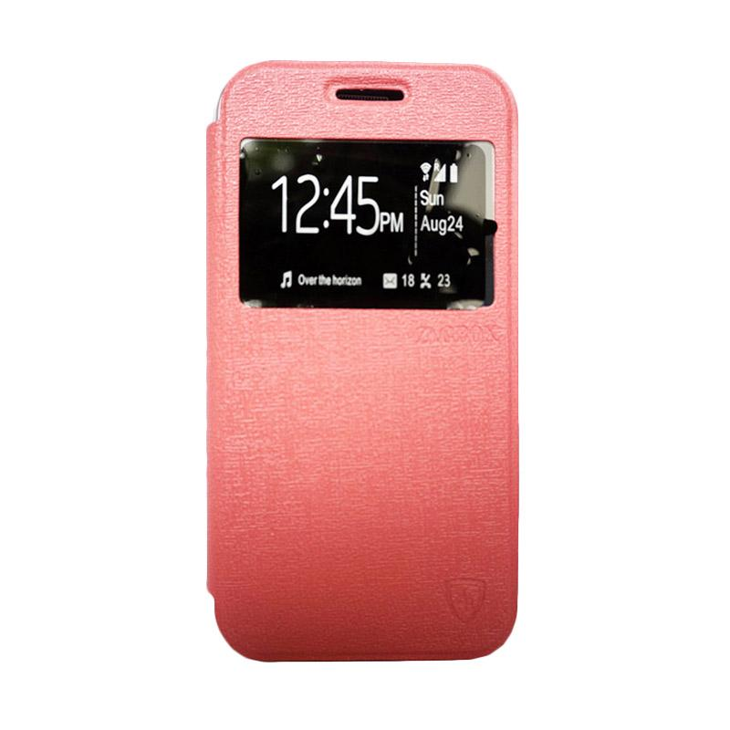 Zagbox Flip Cover Casing for Oppo R5 - Pink