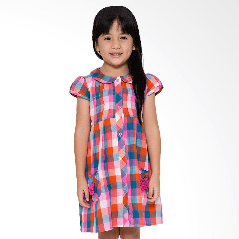 4 You Choir Collar Dress Anak - Pink