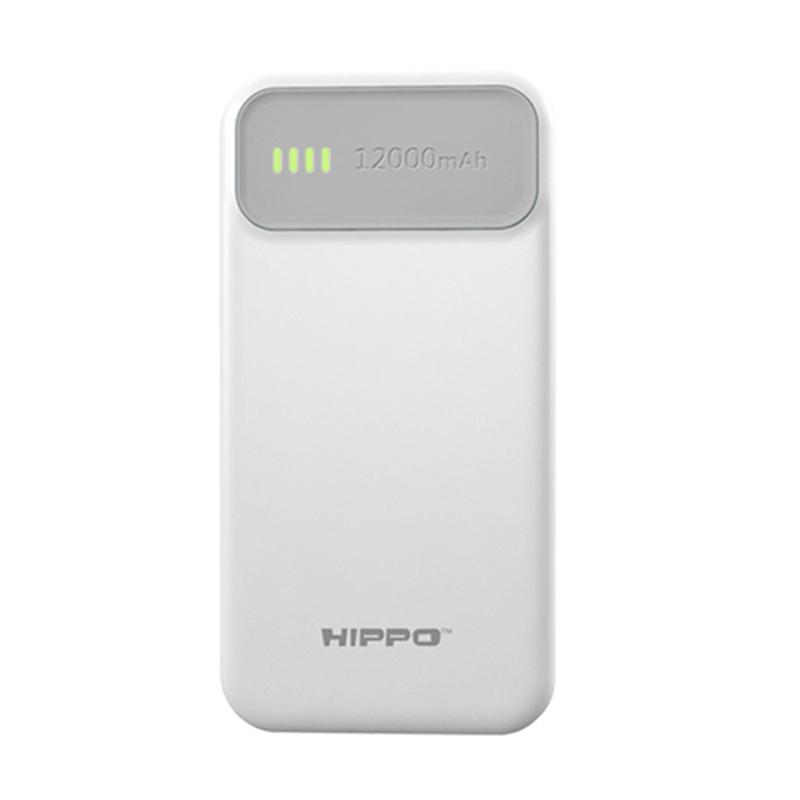 Hippo Atlas Powerbank - Abu Abu [12000 mAh]