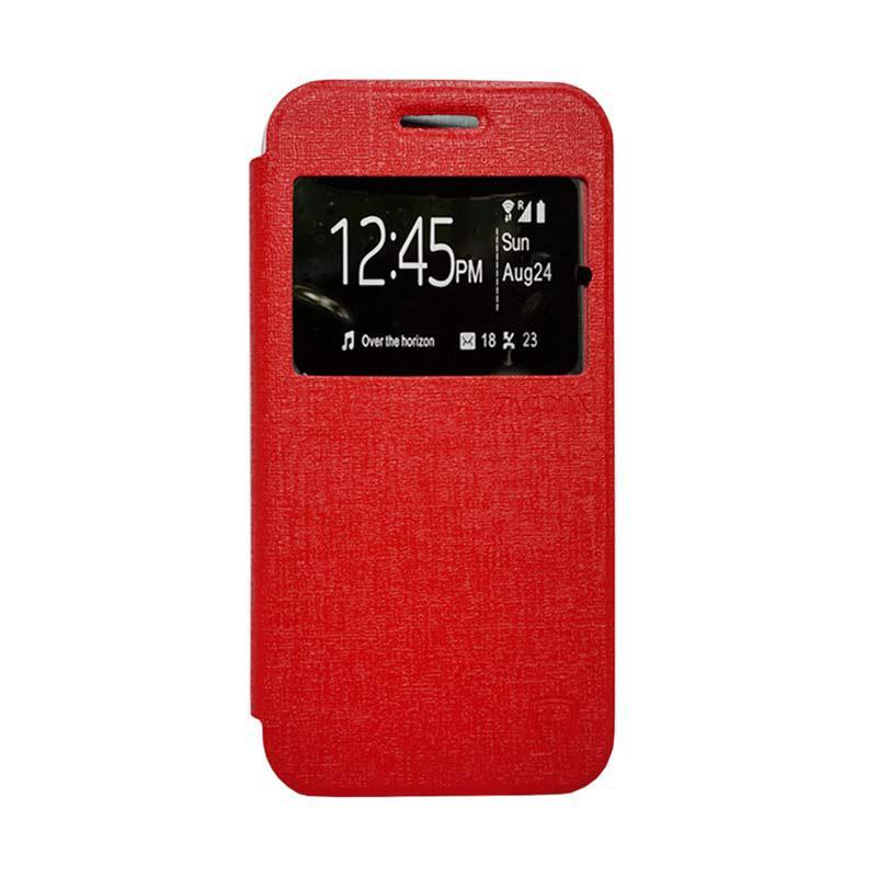 Zagbox Flip Cover Casing for Nokia N225 - Merah