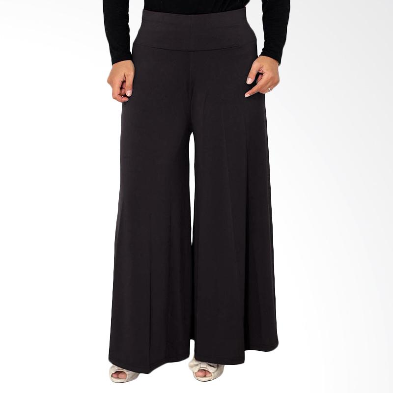 Rasya Celana Kulot Jersey - Hitam