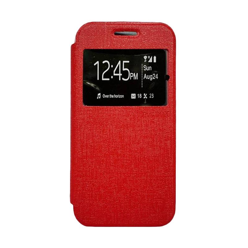 ZAGBOX Flip Cover Casing for Oppo R3 - Merah