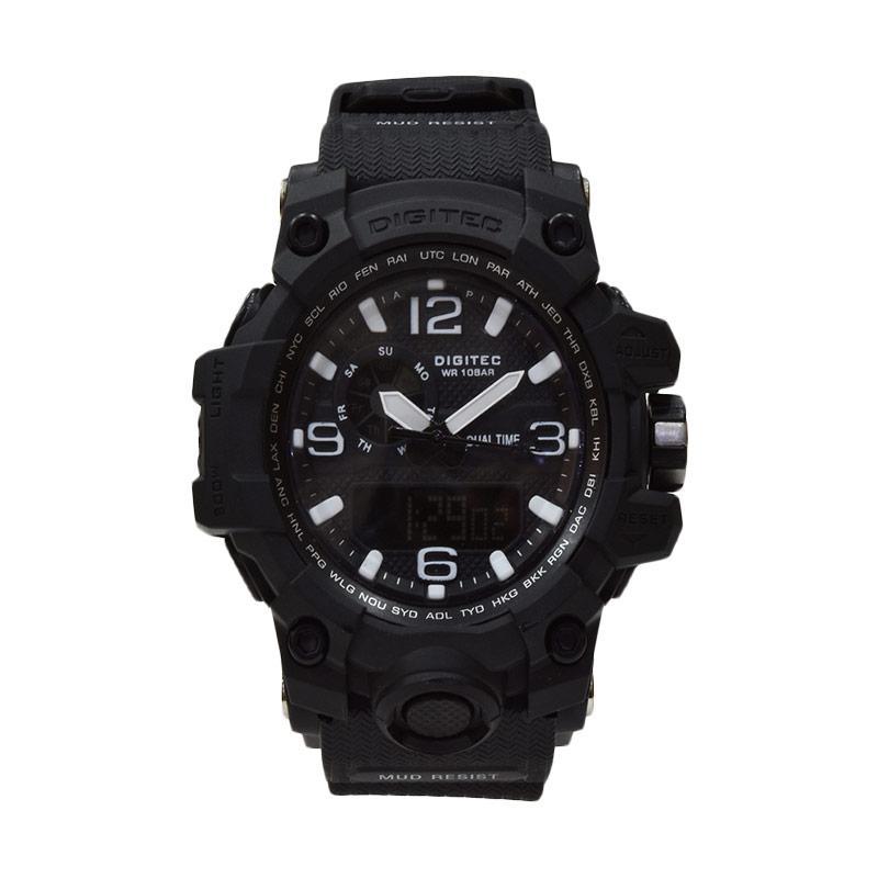 Digitec Dual Time DG2093T-B Jam Tangan Pria - Hitam