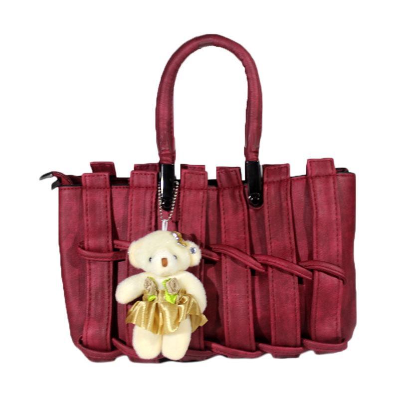Enandem Handbag Elegant Tas Wanita - Maroon