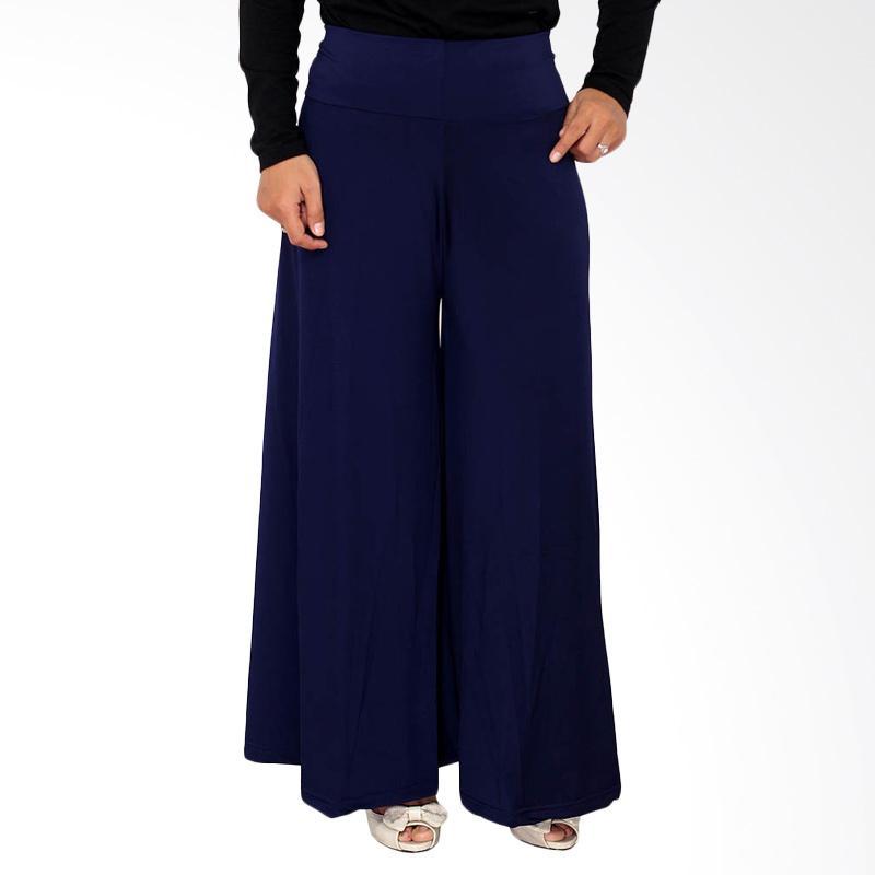 Rasya Celana Kulot Jersey - Navy