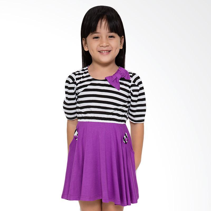 4 You Kaus Salur Dress Anak - Ungu