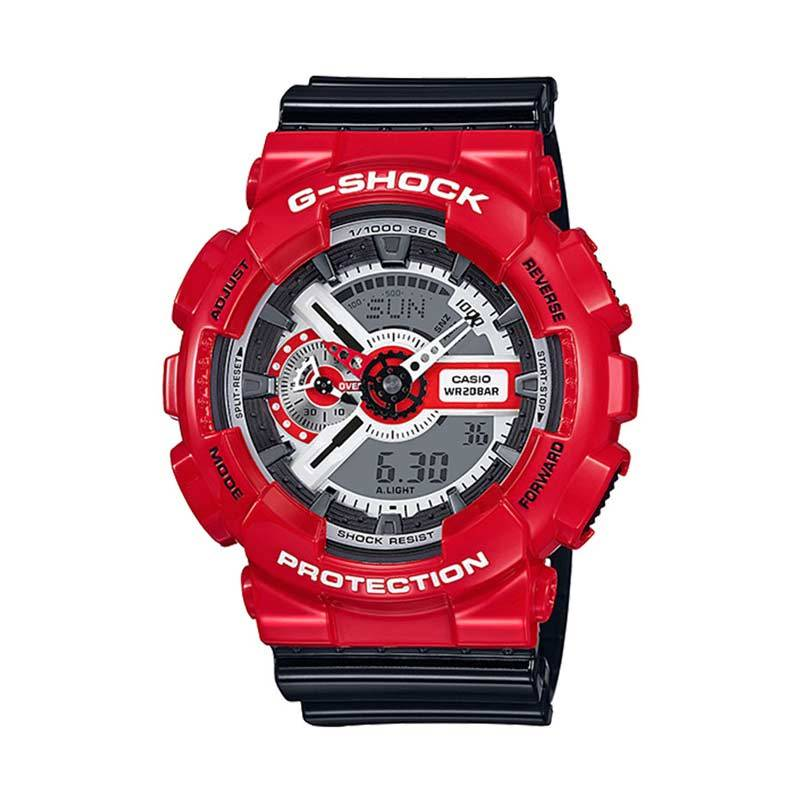 CASIO G-Shock Jam Tangan Pria GA-110RD-4ADR - Black red