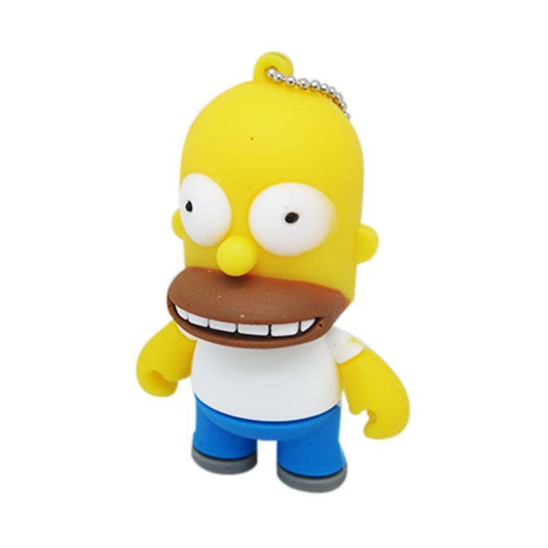 PA 16GB USB Flash Drive The Simpsons Dad Homer Shape with Key Chain
