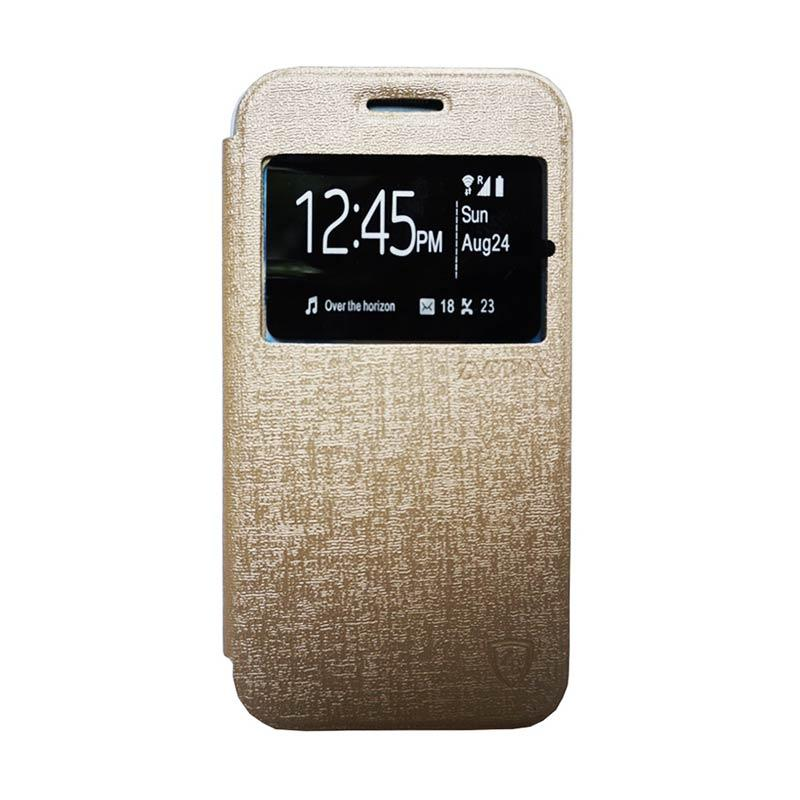 Zagbox Flip Cover Casing for Vivo Y28 - Gold