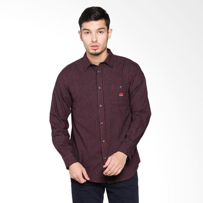 3SECOND Men Shirt Kemeja Pria - Red 112051711