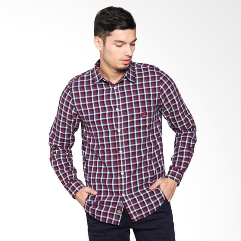 3SECOND Men Shirt Kemeja Pria - Blue 115051711