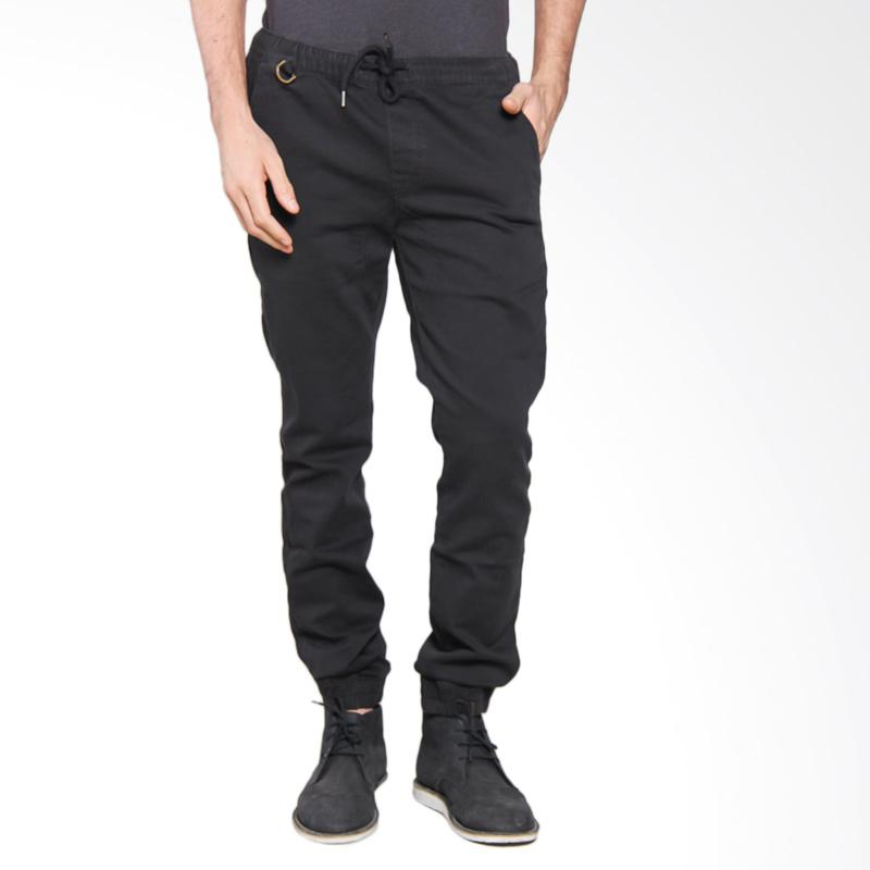 3SECOND MEN Rib Sport Pants - Black [108051713]